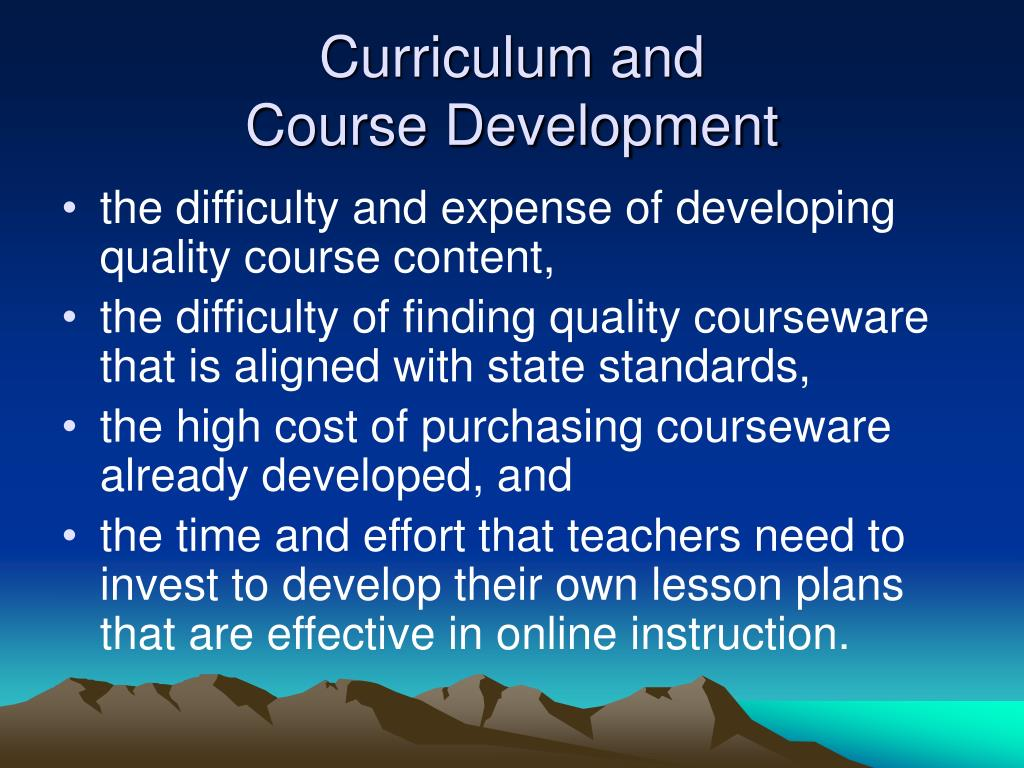 Curriculum and