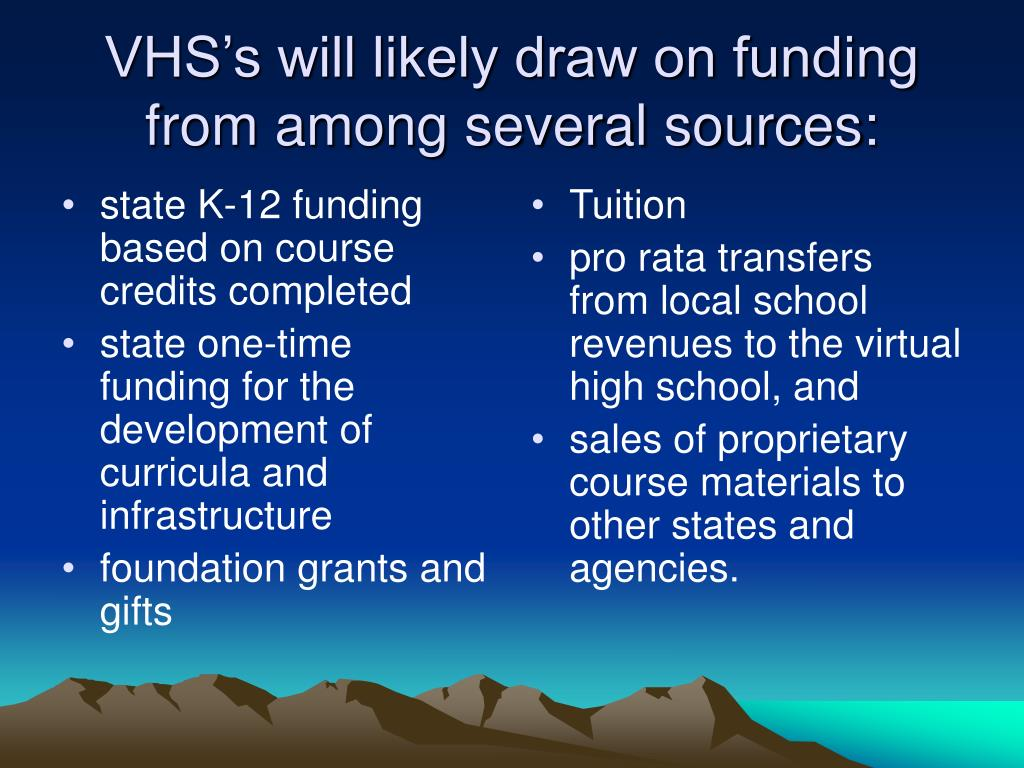 state K-12 funding based on course credits completed