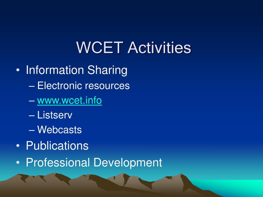 WCET Activities