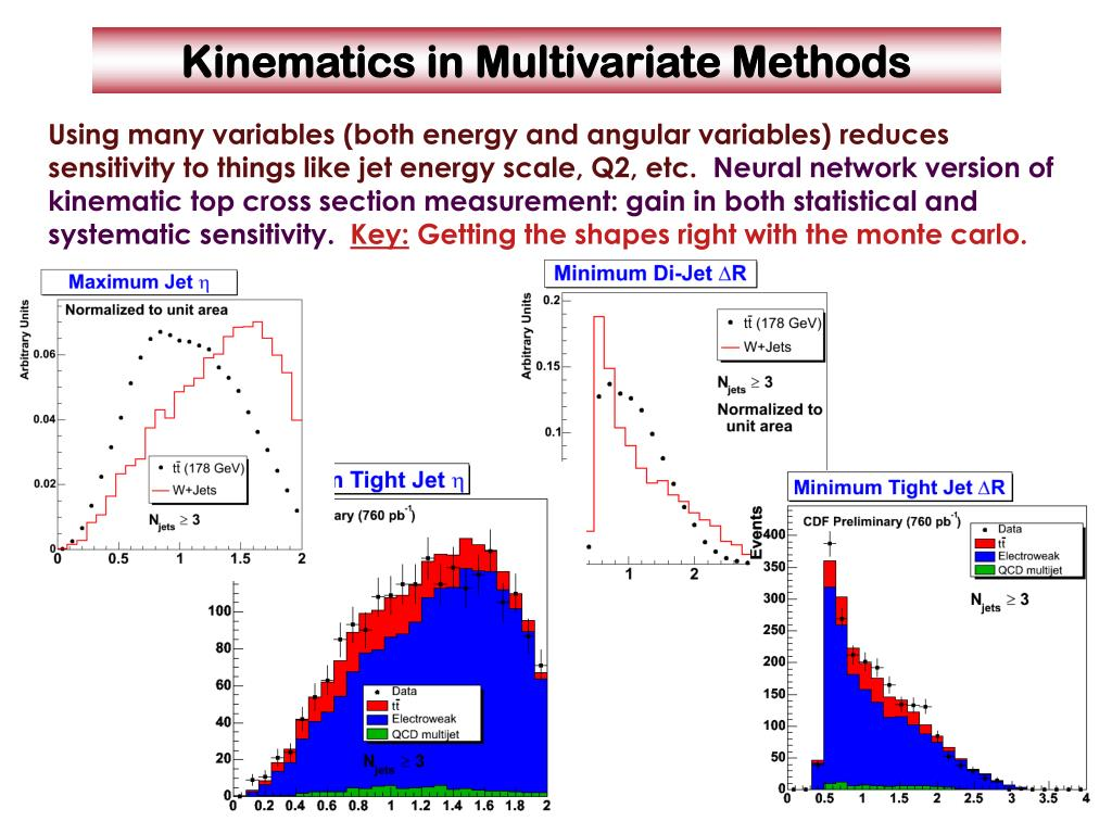 Using many variables (both energy and angular variables) reduces sensitivity to things like jet energy scale, Q2, etc.