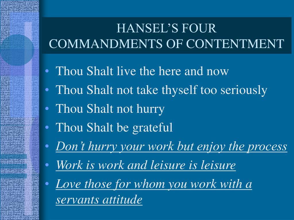 HANSEL'S FOUR