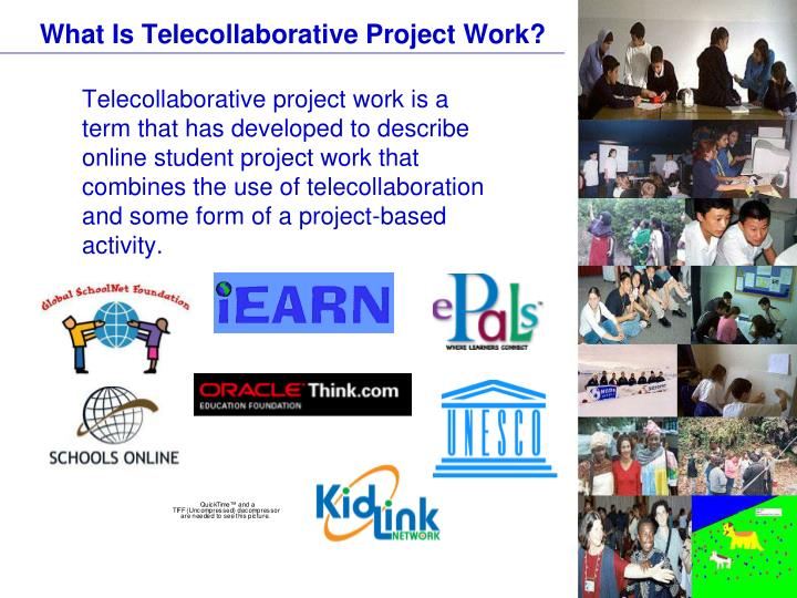 What is telecollaborative project work