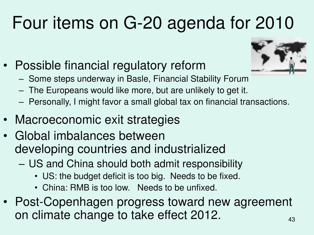 Four items on G-20 agenda for 2010