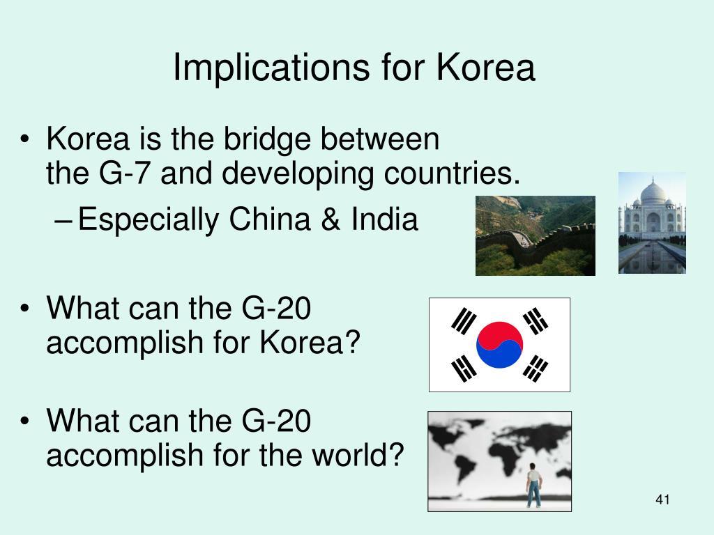 Implications for Korea