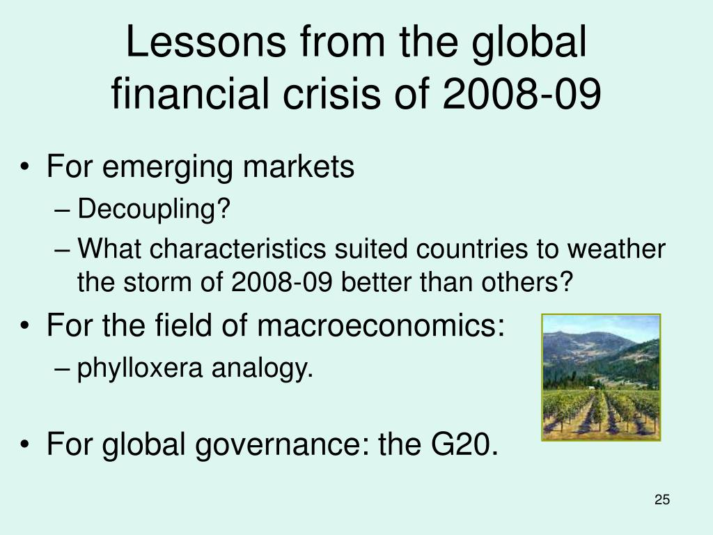 Lessons from the global financial crisis of 2008-09