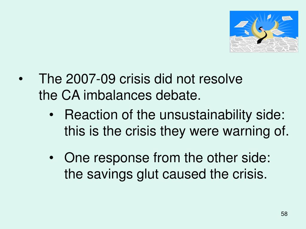 The 2007-09 crisis did not resolve