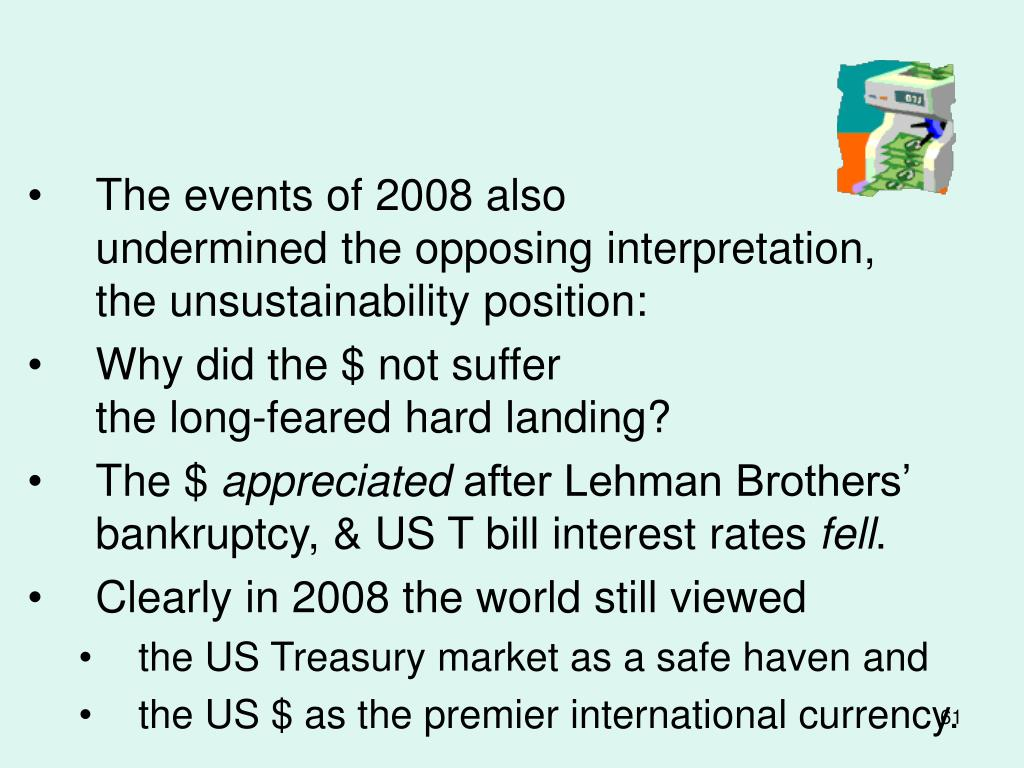 The events of 2008 also