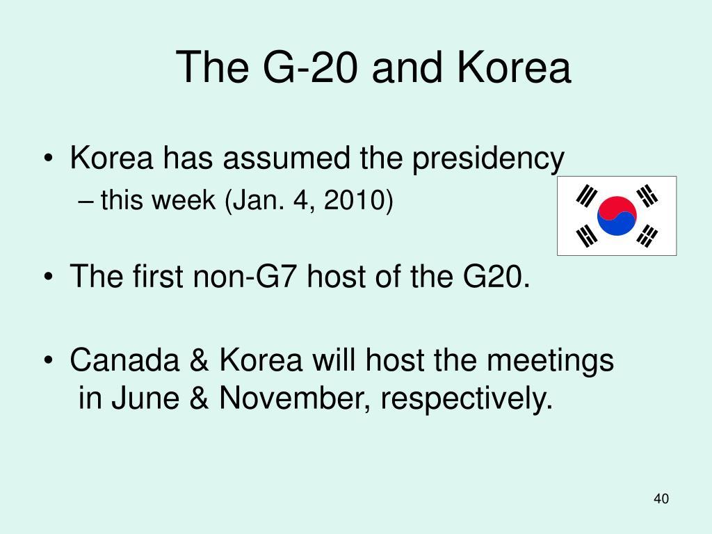 The G-20 and Korea