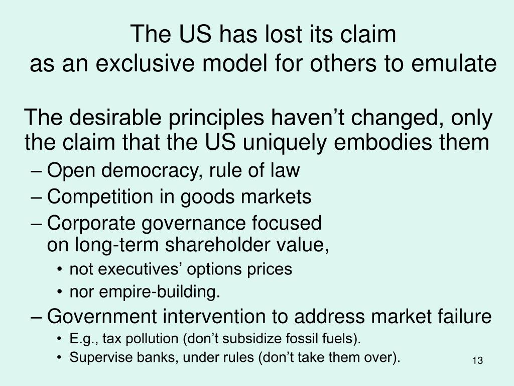 The US has lost its claim