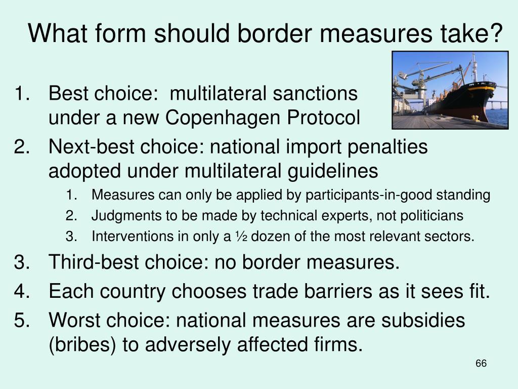 What form should border measures take?