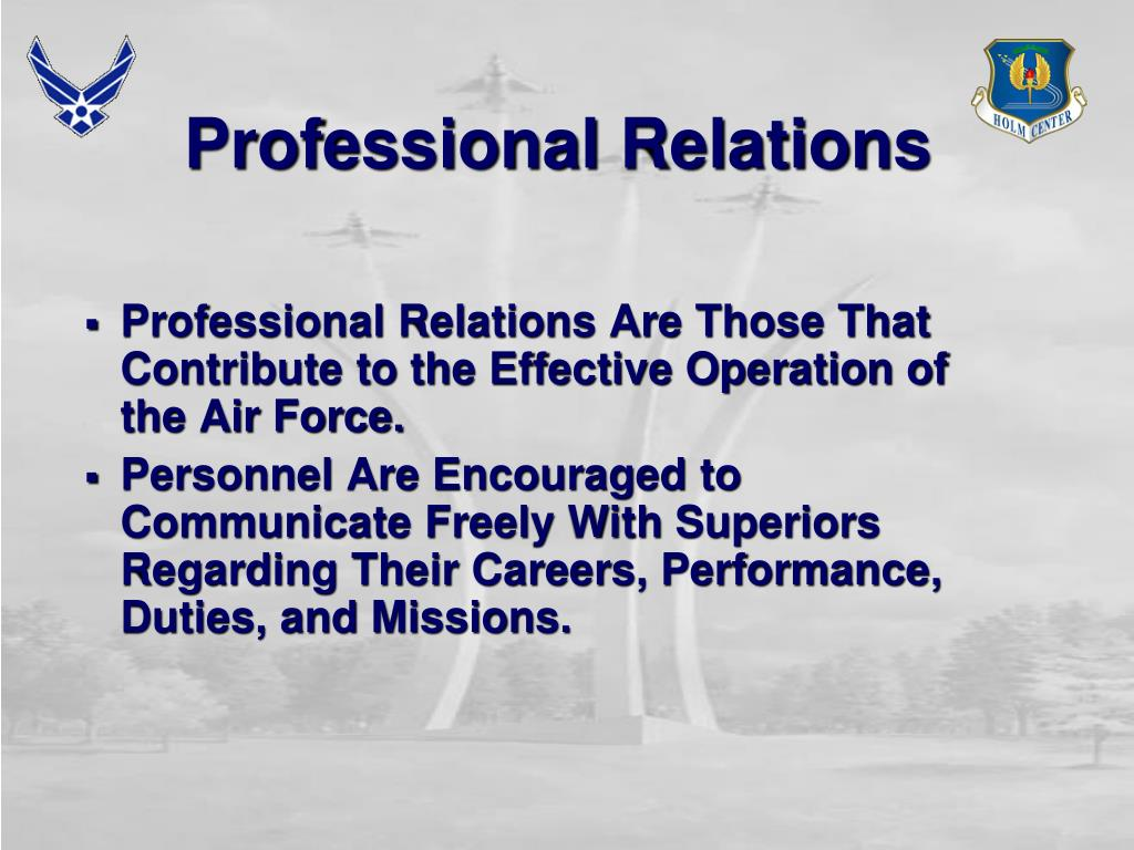 Professional Relations