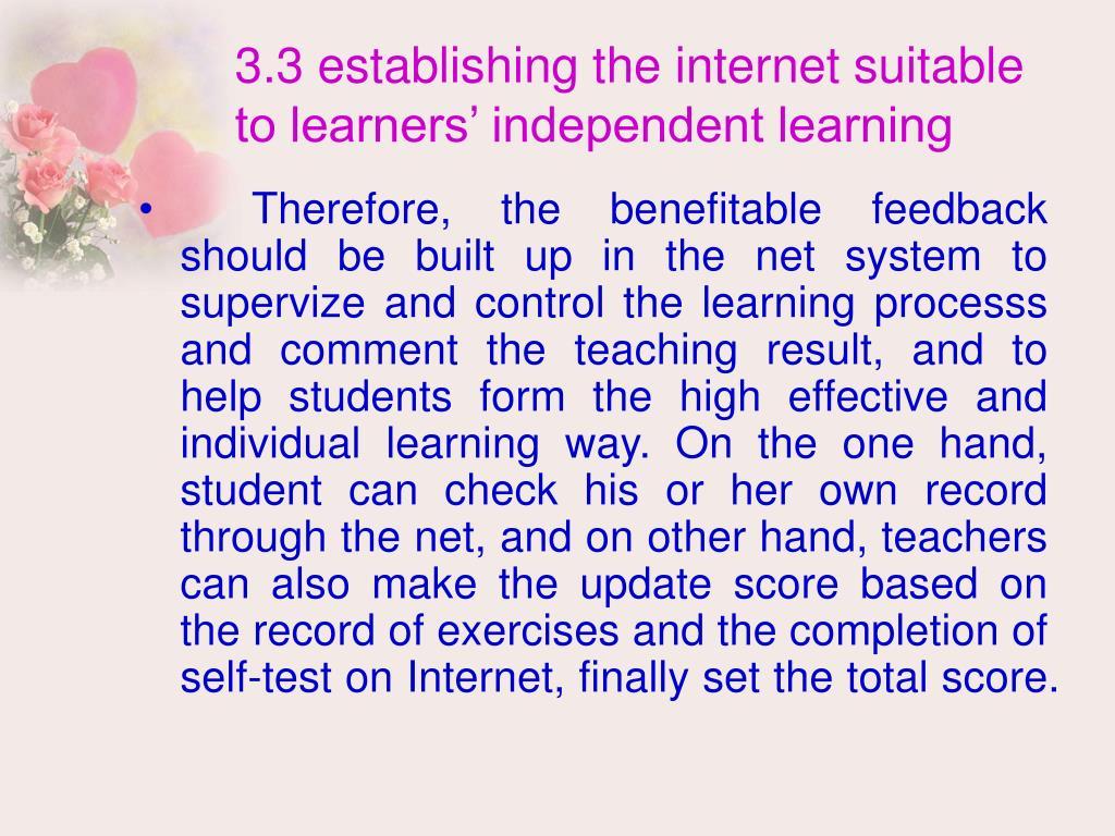 3.3 establishing the internet suitable