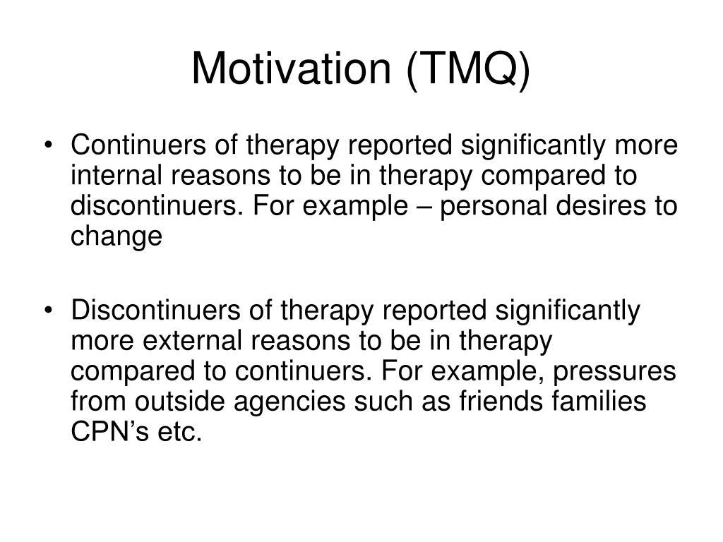 Motivation (TMQ)
