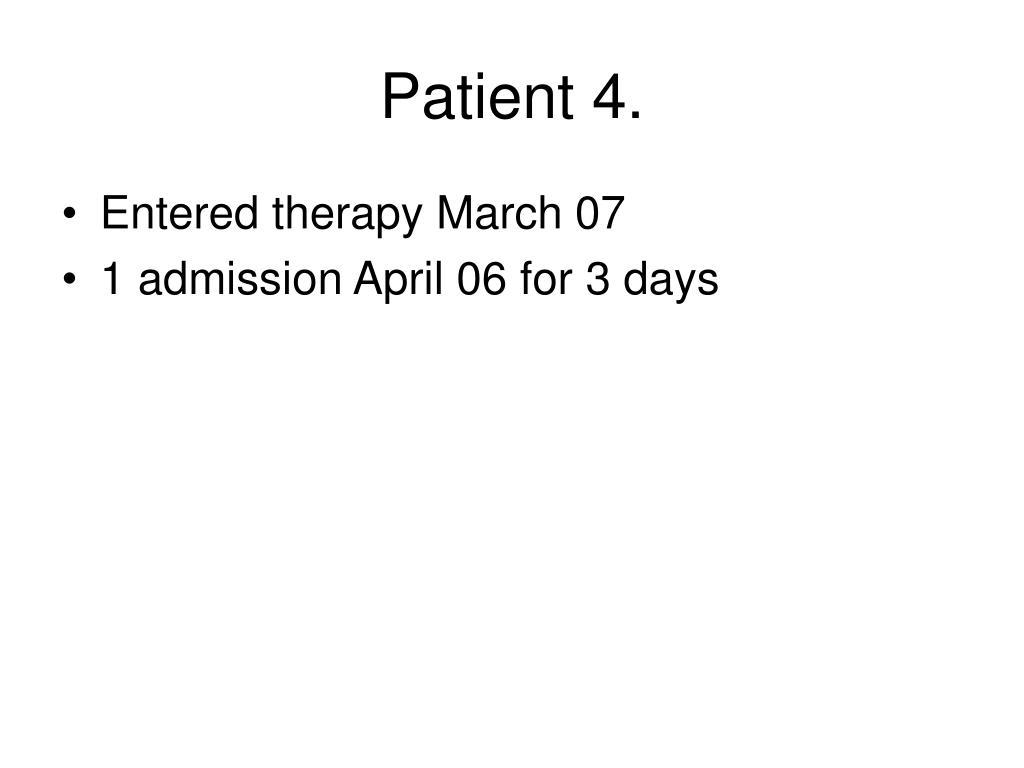 Patient 4.