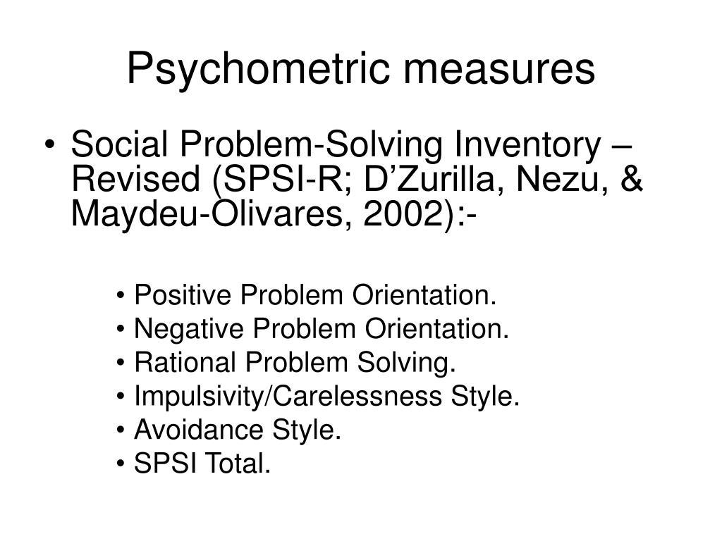 Psychometric measures