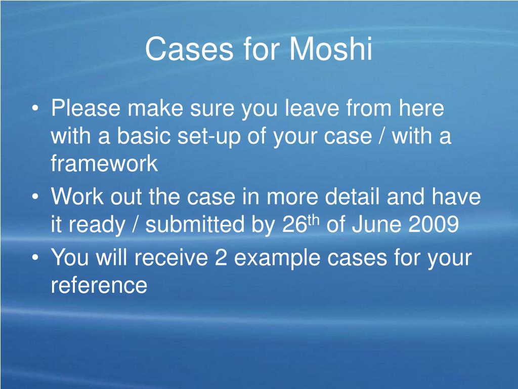 Cases for Moshi