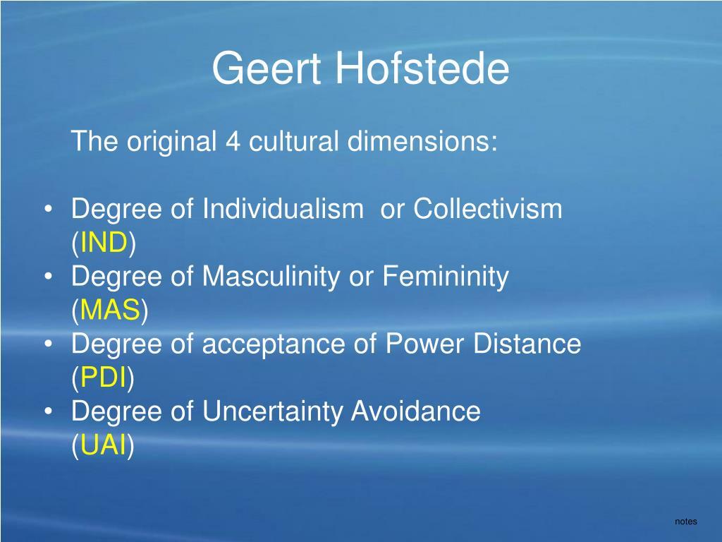 Geert Hofstede