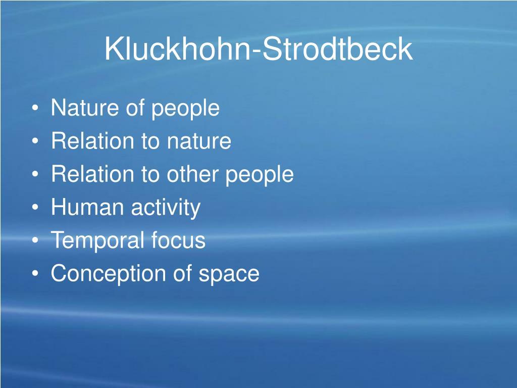 Kluckhohn-Strodtbeck