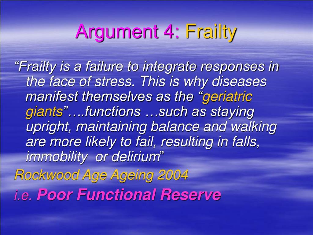 Argument 4: