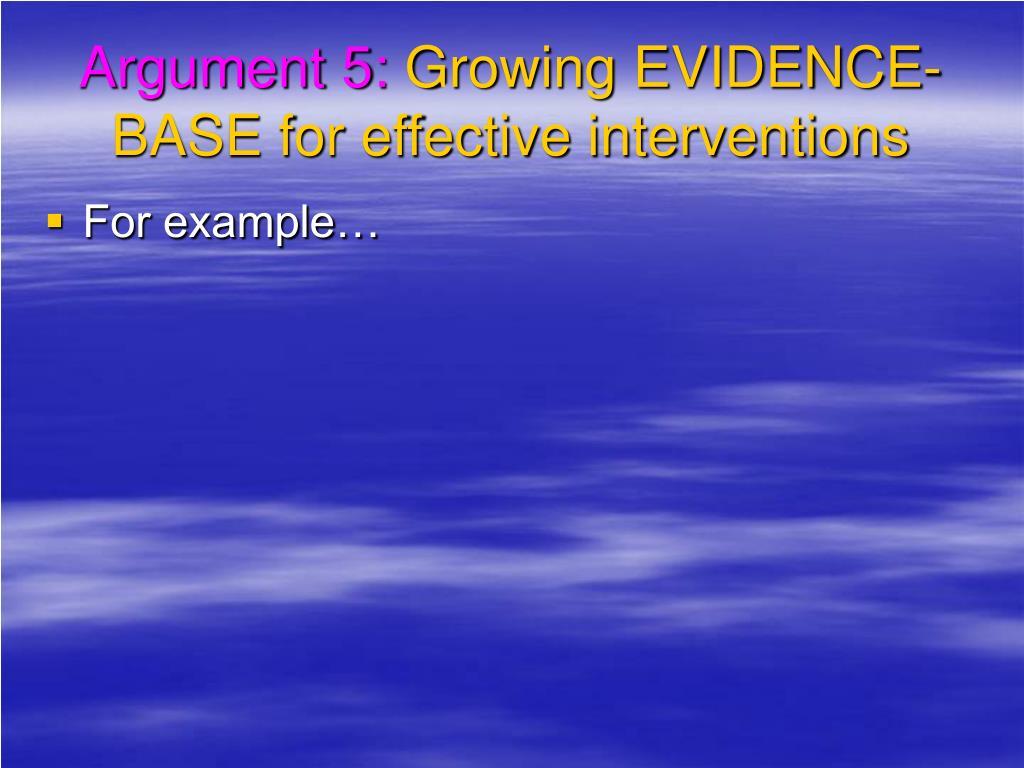 Argument 5: