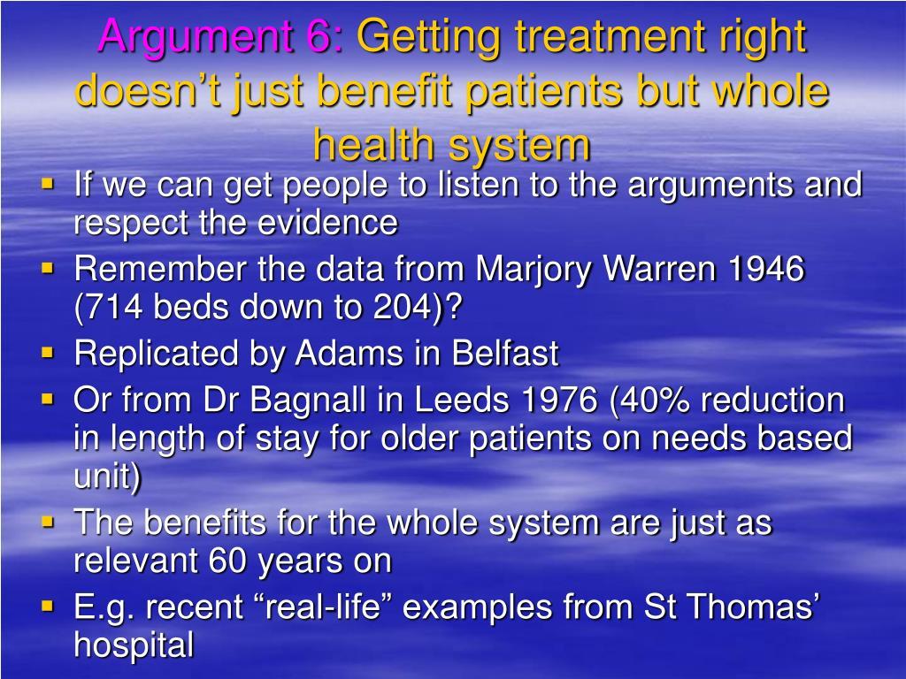 Argument 6: