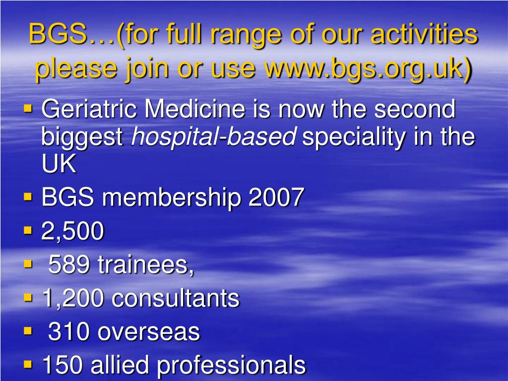 BGS…(for full range of our activities please join or use www.bgs.org.uk)