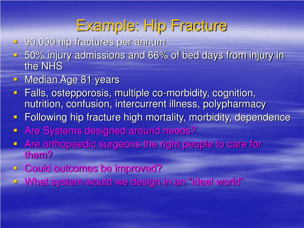 Example: Hip Fracture