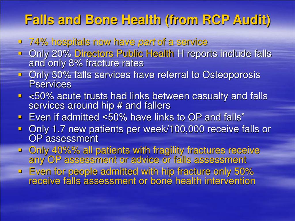 Falls and Bone Health (from RCP Audit)
