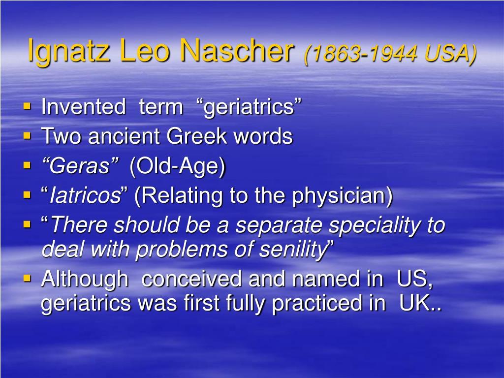 Ignatz Leo Nascher