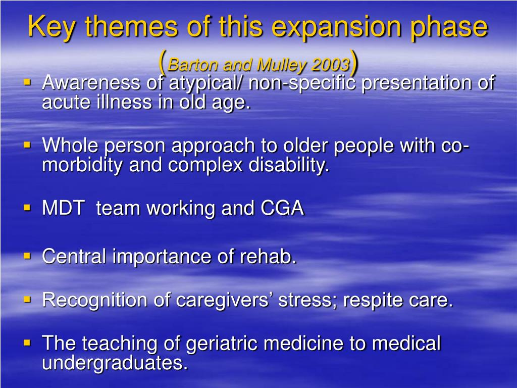 Key themes of this expansion phase (