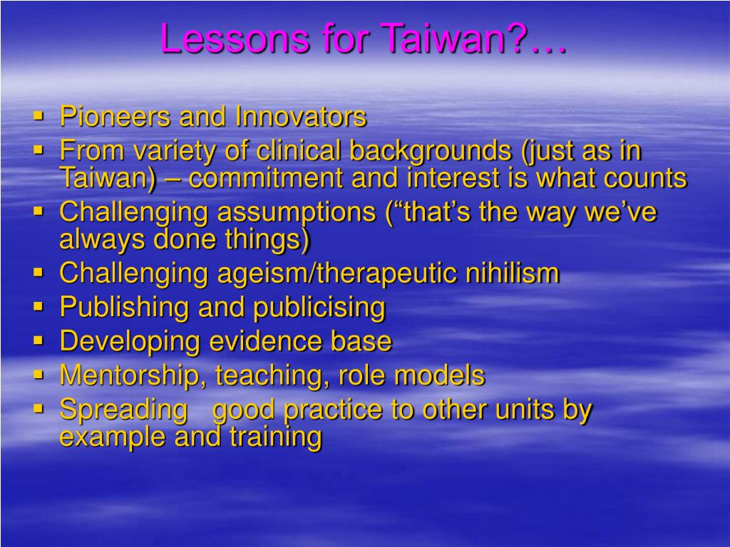 Lessons for Taiwan?…