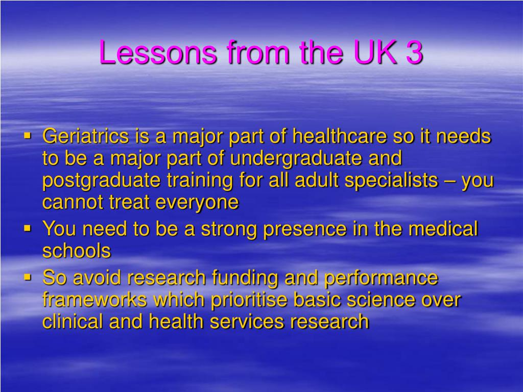 Lessons from the UK 3
