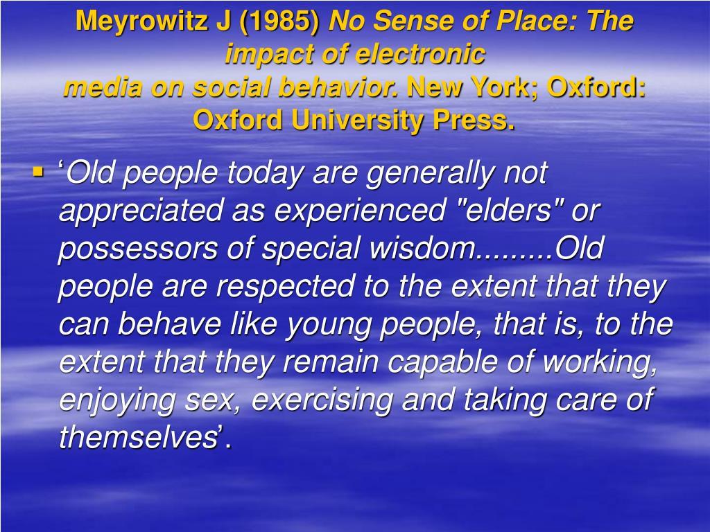 Meyrowitz J (1985)