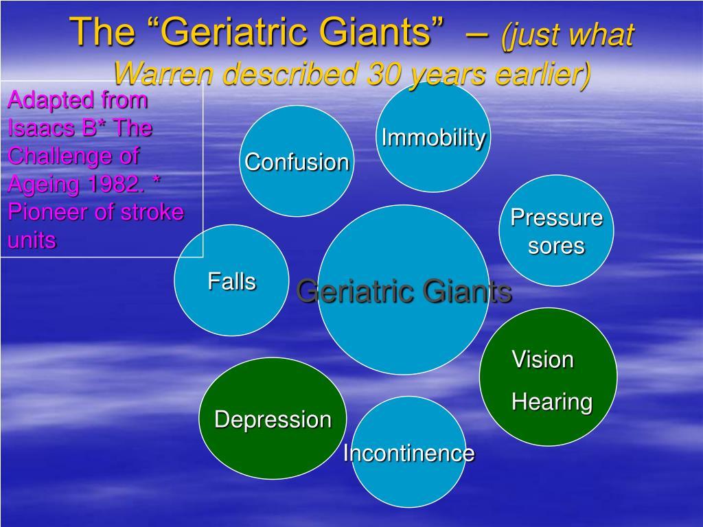 """The """"Geriatric Giants""""  –"""