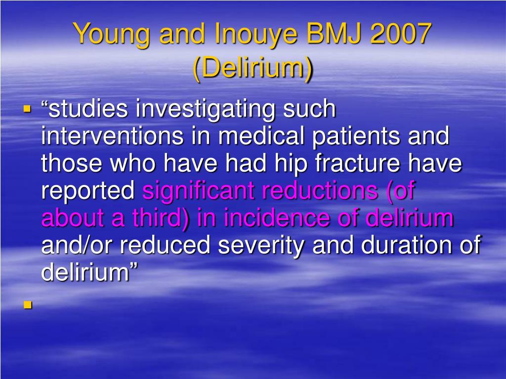 Young and Inouye BMJ 2007 (Delirium)