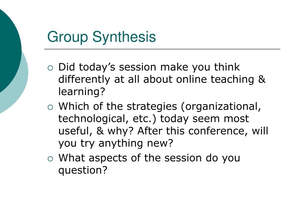 Group Synthesis