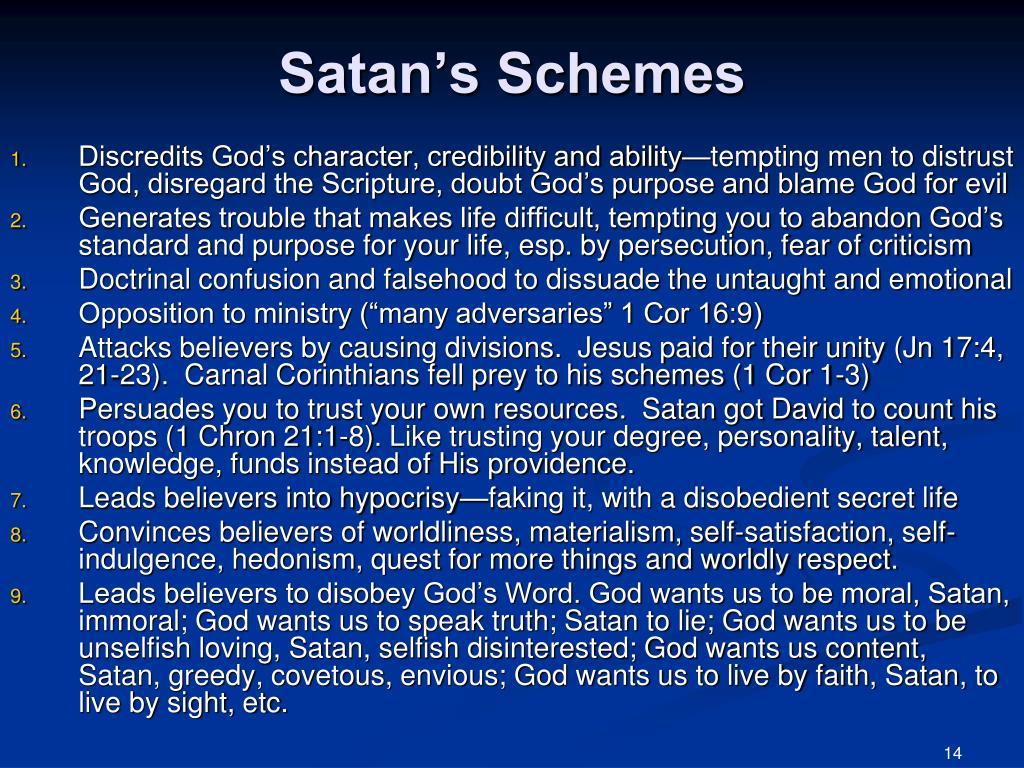 Satan's Schemes