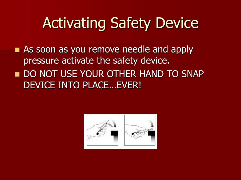 Activating Safety Device