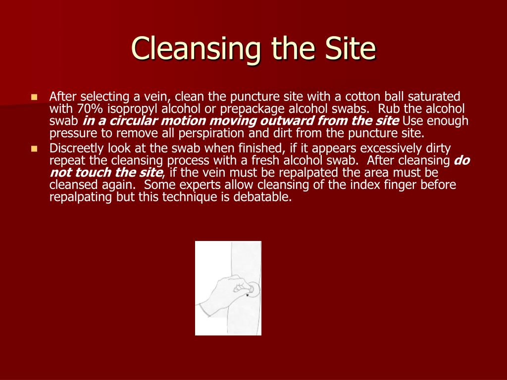 Cleansing the Site