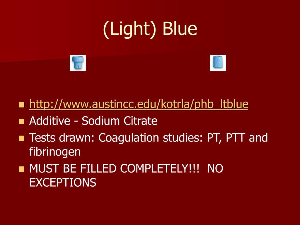 (Light) Blue