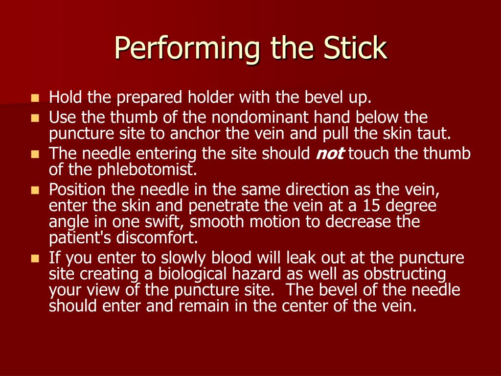 Performing the Stick