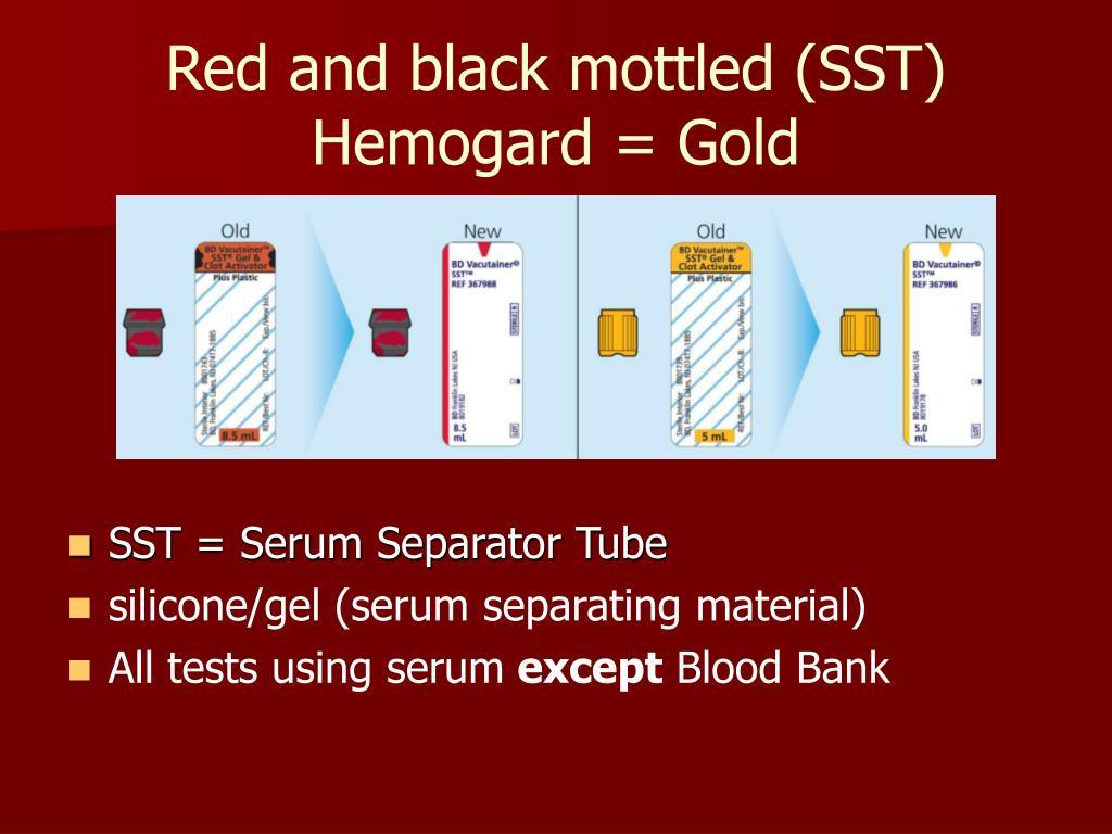 Red and black mottled (SST)