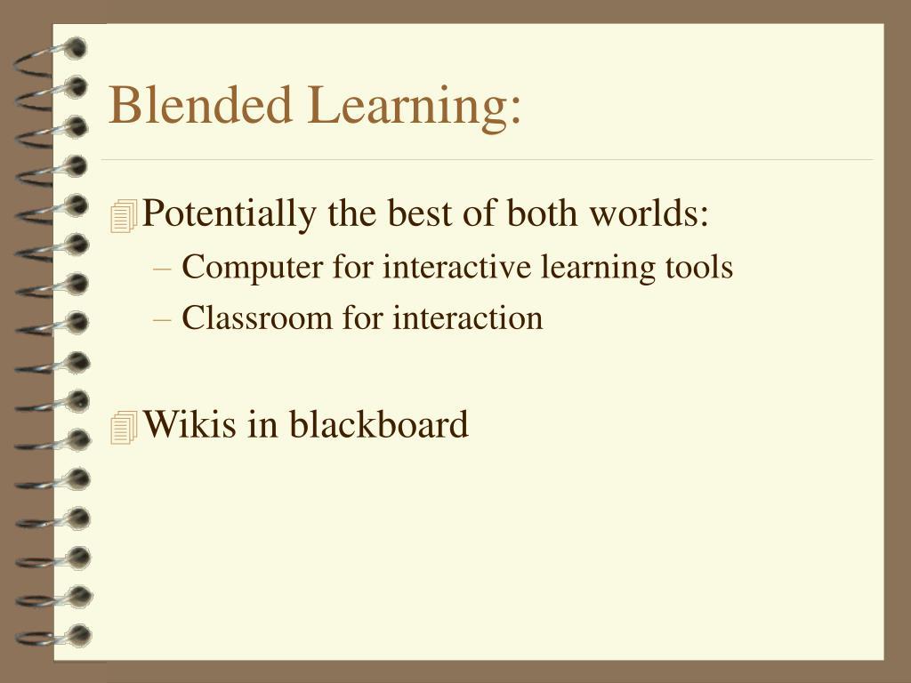 Blended Learning: