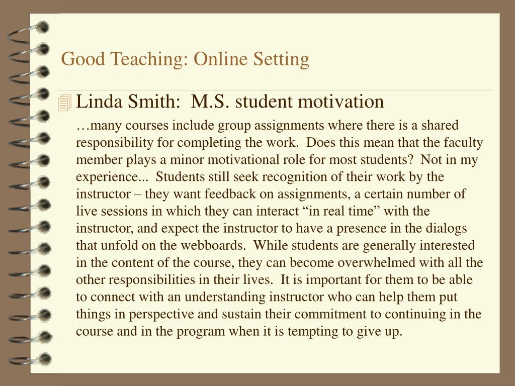 Good Teaching: Online Setting