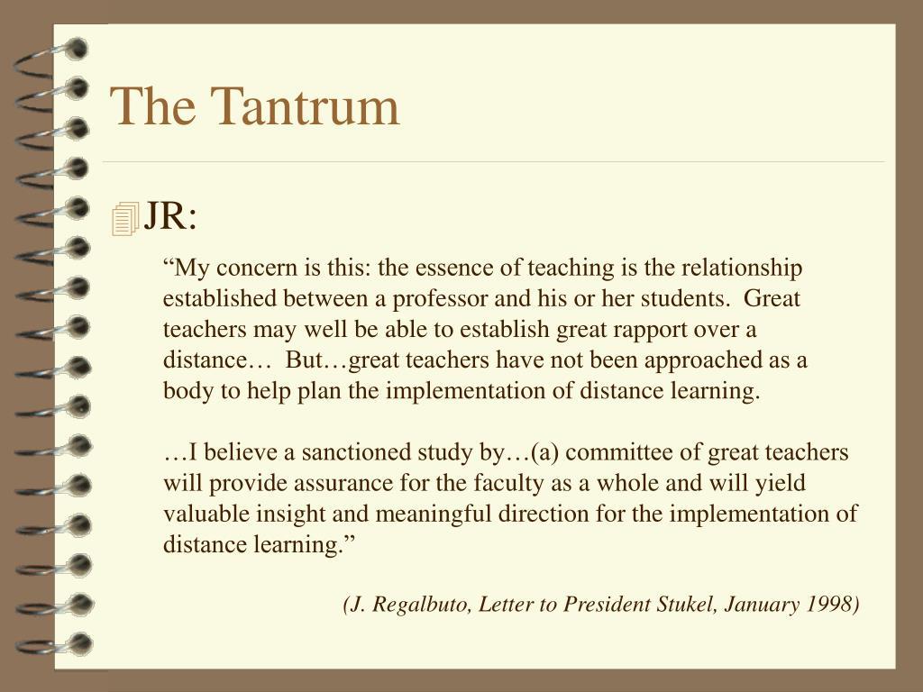 The Tantrum