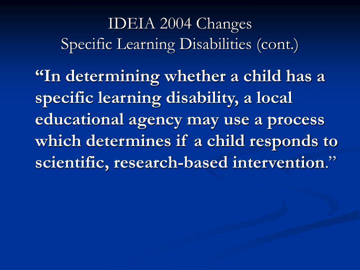 IDEIA 2004 Changes
