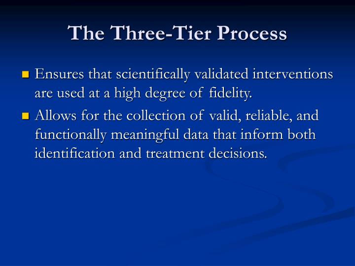 The Three-Tier Process