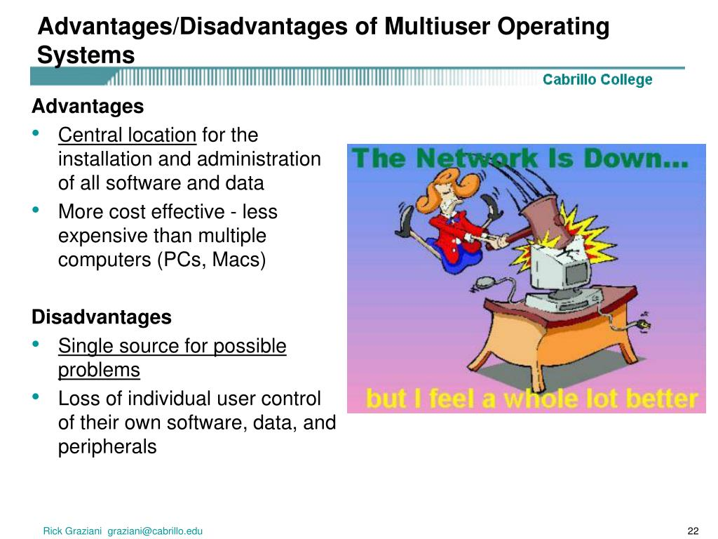 Advantages/Disadvantages of Multiuser Operating Systems
