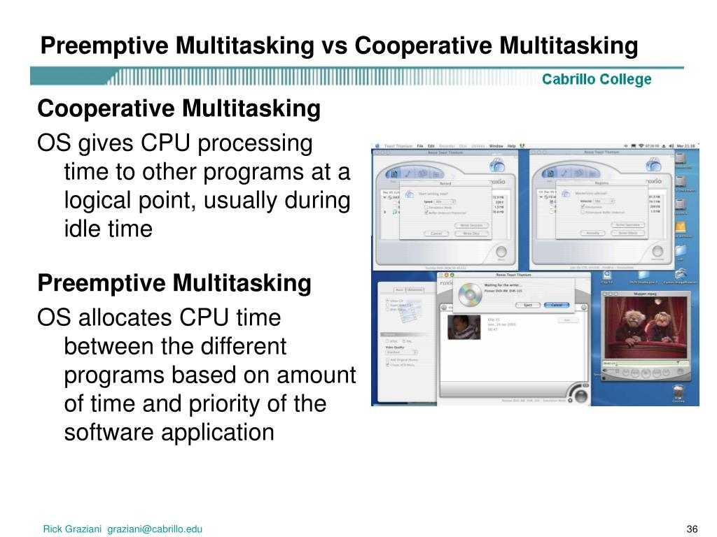 Preemptive Multitasking vs Cooperative Multitasking