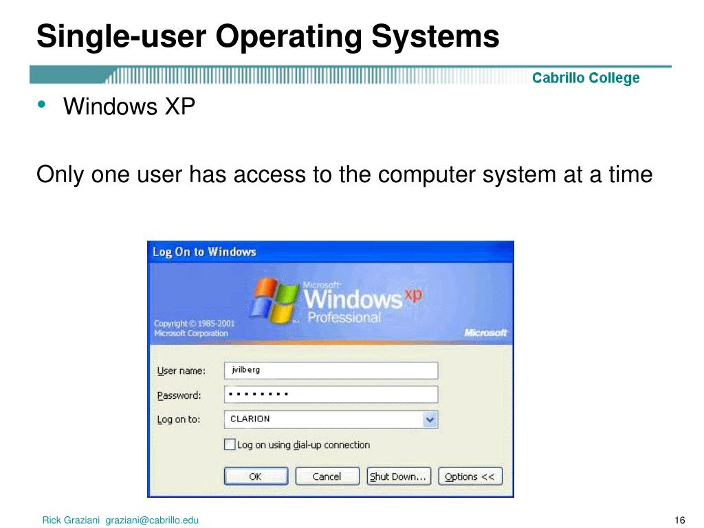 Single-user Operating Systems